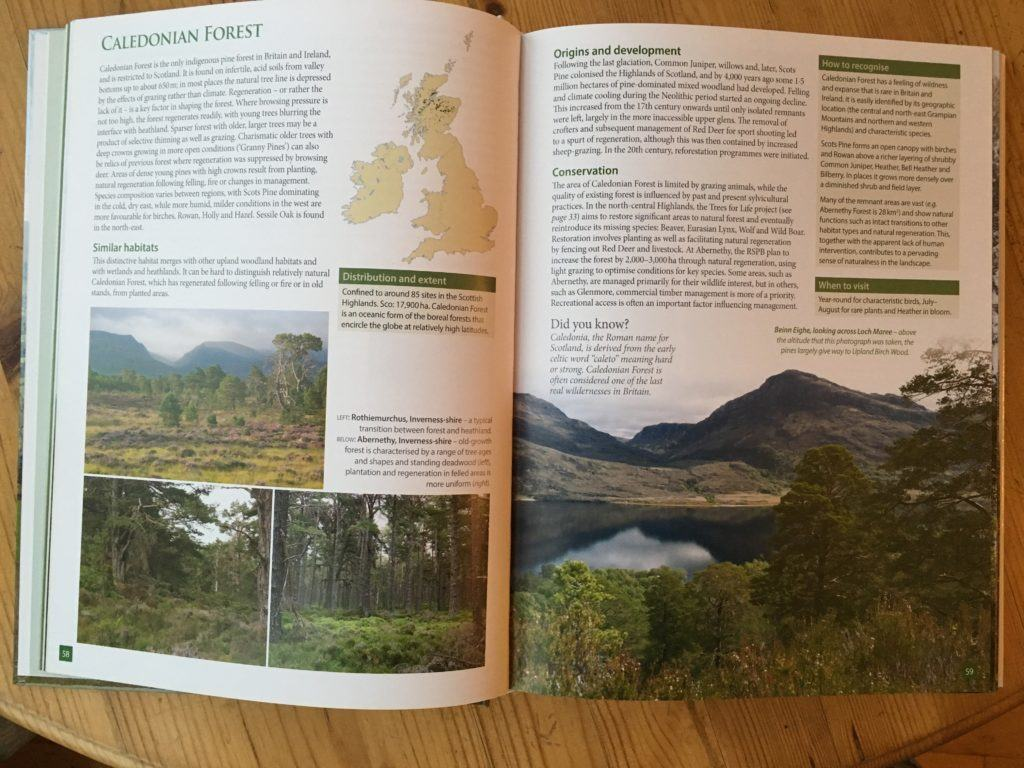 The book contains well illustrated accounts of each habitat type including maps of the habitats