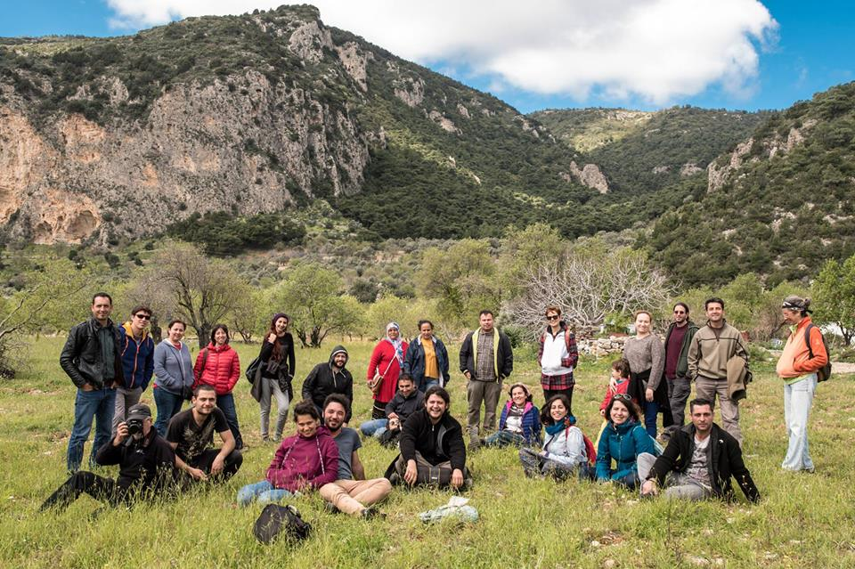 Some of the Doğa Derneği team - dedicated ornithologists and conservationists working to protect Europes migrant birds in Turkey